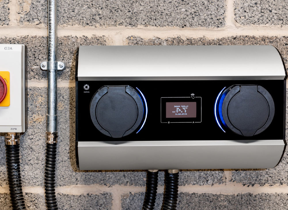 wall-mounted charger for cars