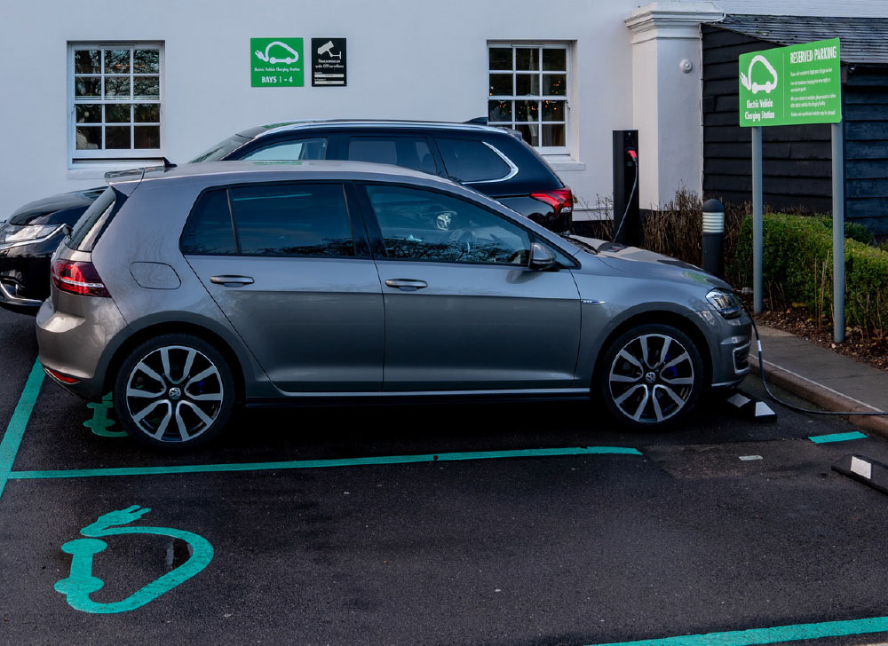 charging your car at a hotel