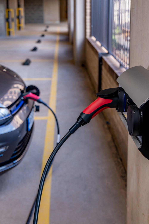 charging car in car park