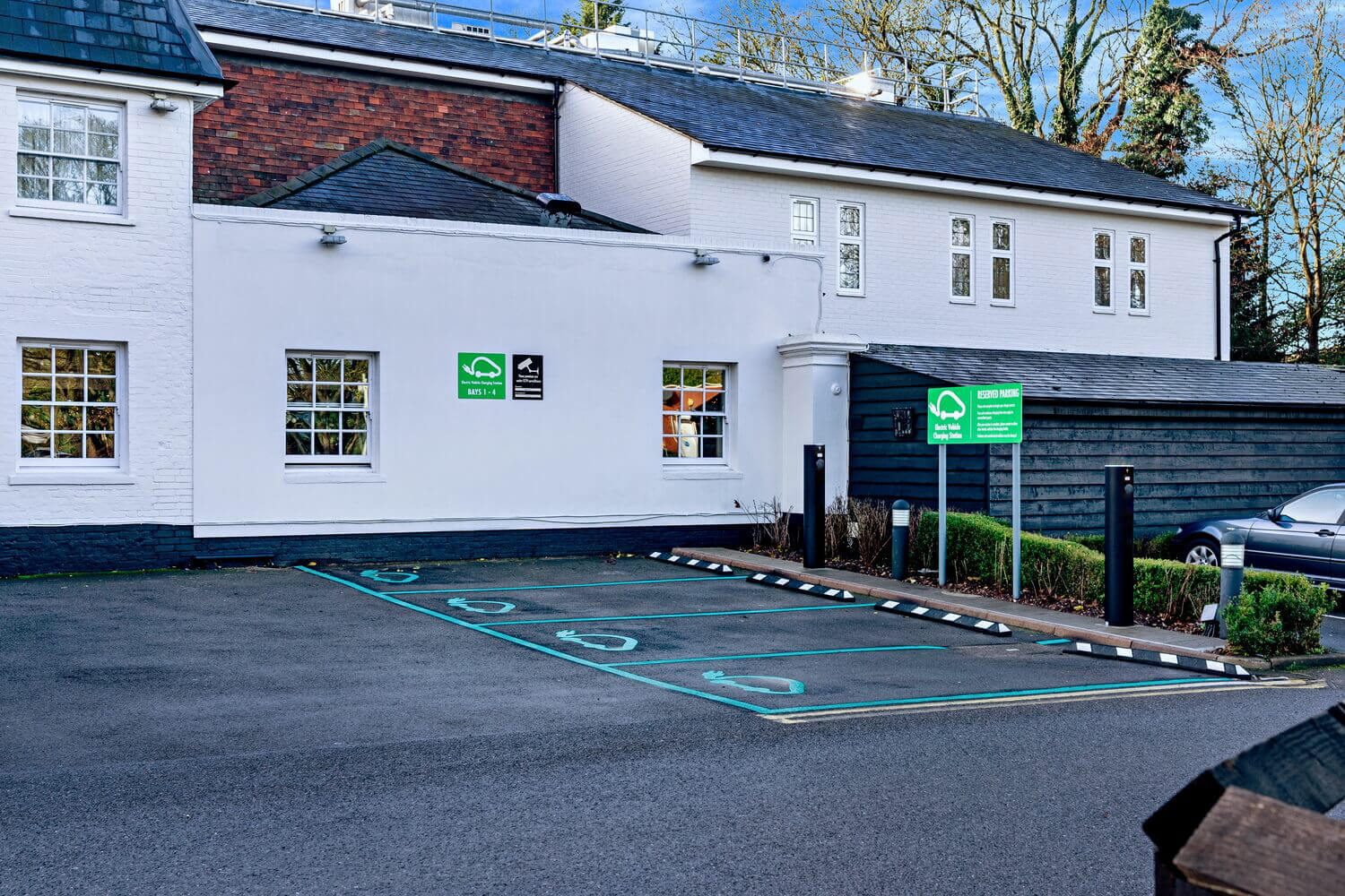 Ev charging spaces at the bull hotel