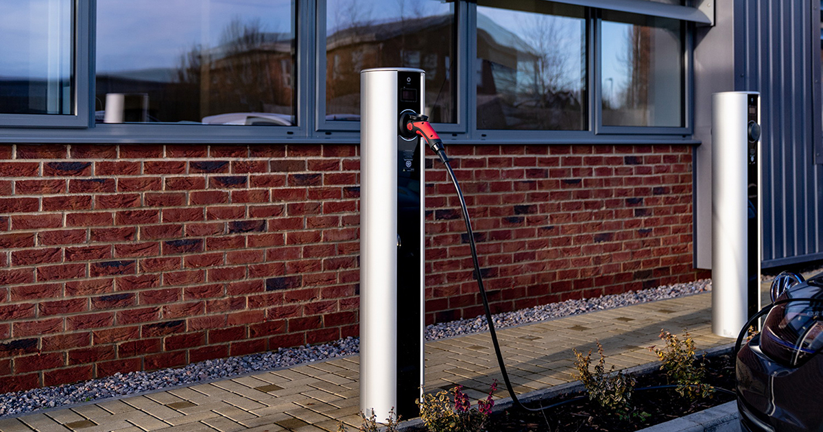 electric vehicle charging point - Floor standing