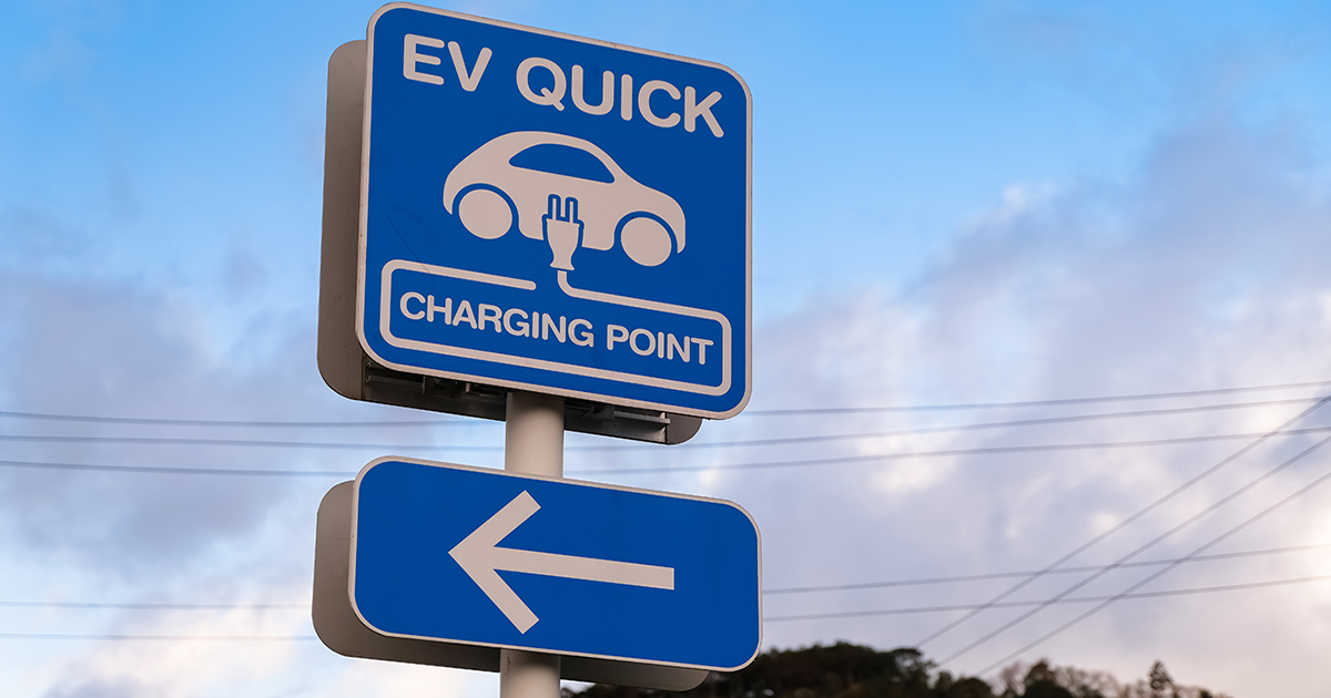 rapid EV charging point