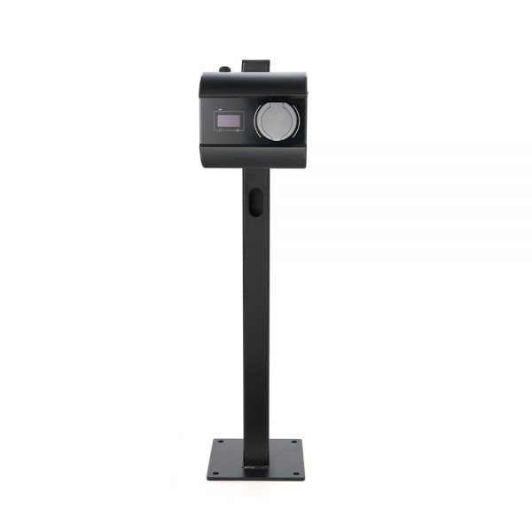 black floor-standing electric vehicle charger