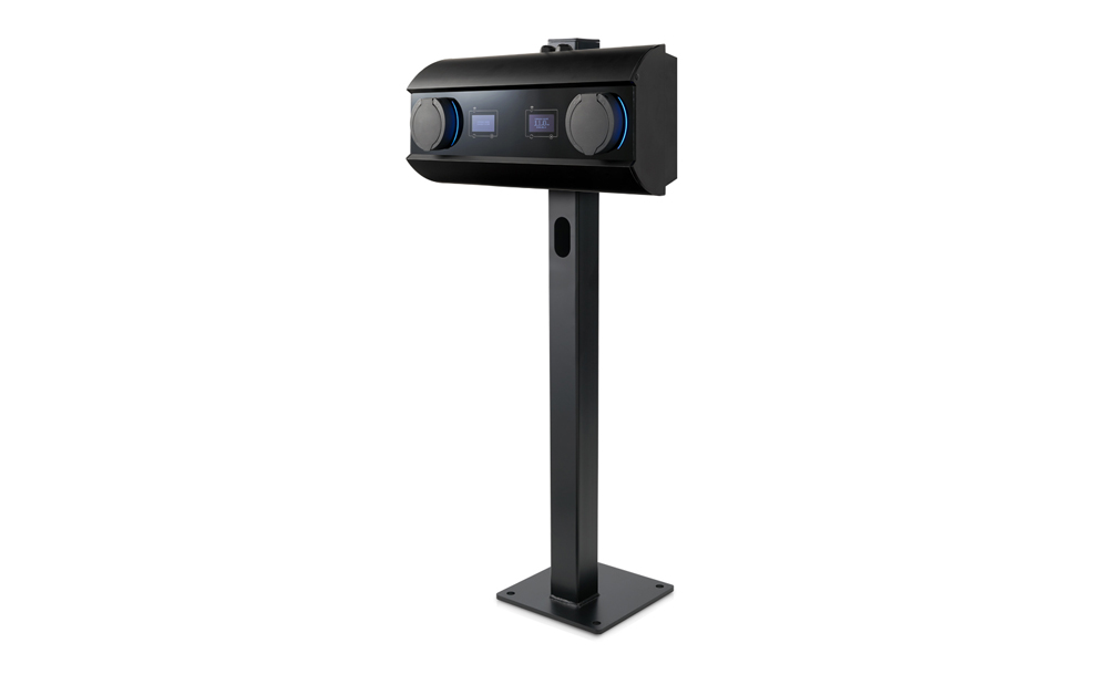 Pedestal electric vehicle charger