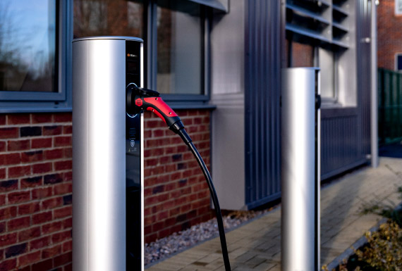 Grandis EV chargers at business