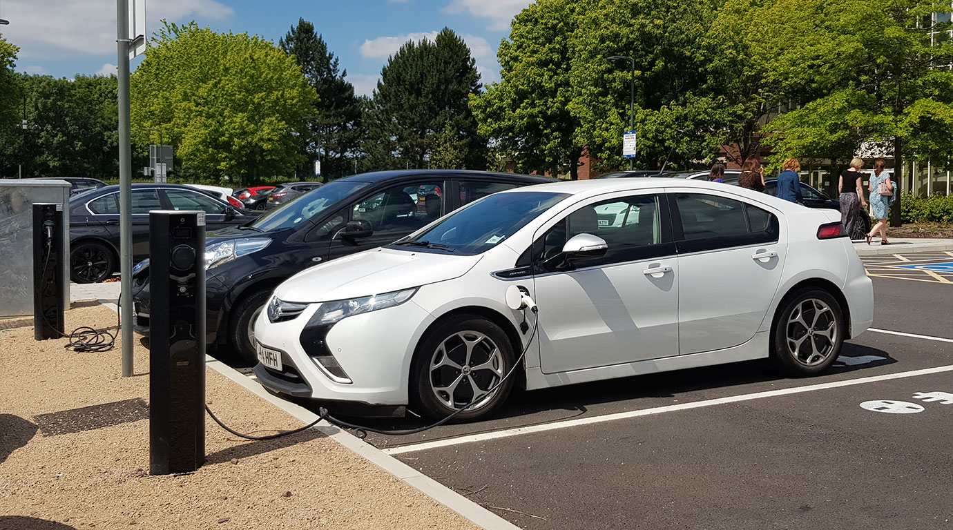 Electric vehicle charging at the workplace
