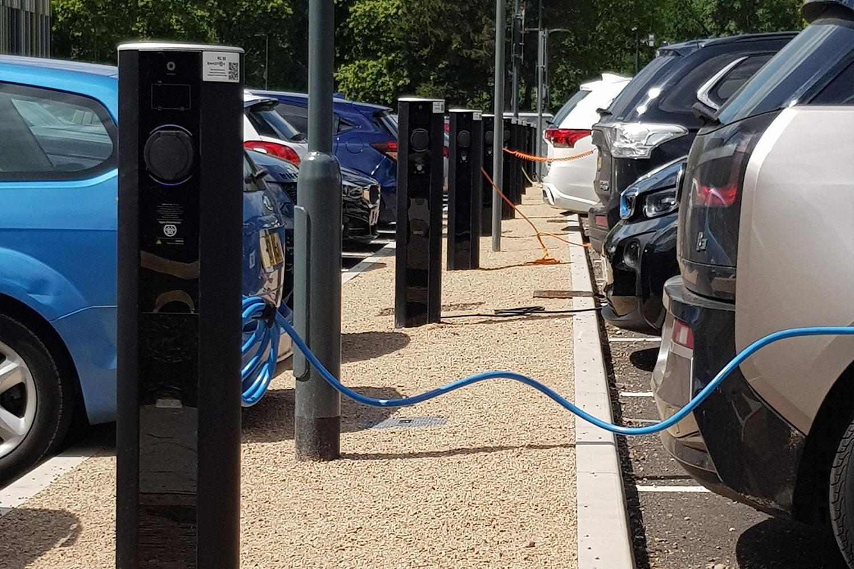 EV charging units at Warwick University
