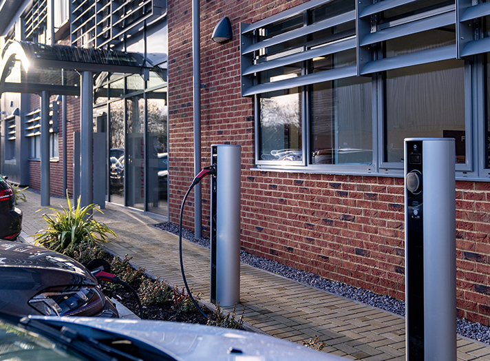 Floor-standing ev chargers at the workplace