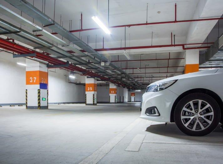 underground parking and ev charging