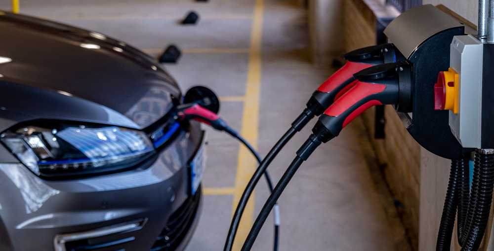 sevadis ev charger in a car park