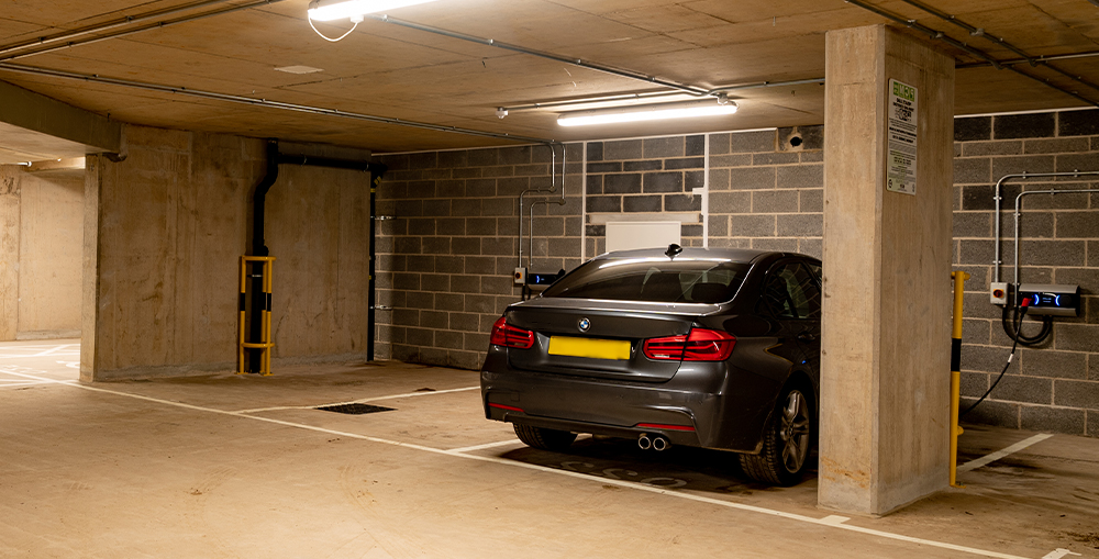 ev charging in retail car park